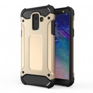 Custodia per Samsung A6 2018 Hybrid Armour TPU+PC Cover robusta e resistente Colore Colore Oro