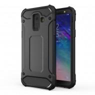Custodia per Samsung A6 2018 Hybrid Armour TPU+PC Cover robusta e resistente Colore Nero