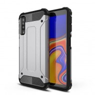 Custodia per Samsung A7 2018 Hybrid Armour TPU+PC Cover robusta e resistente Colore Colore Argento