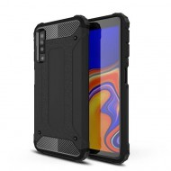 Custodia per Samsung A7 2018 Hybrid Armour TPU+PC Cover robusta e resistente Colore Nero