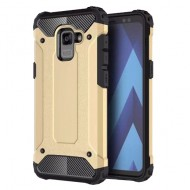 Custodia per Samsung A8 2018 Hybrid Armour TPU+PC Cover robusta e resistente Colore Colore Oro