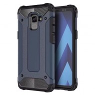 Custodia per Samsung A8 2018 Hybrid Armour TPU+PC Cover robusta e resistente Colore Blu