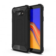 Custodia per Samsung J4 PLUS 2018 Hybrid Armour TPU+PC Cover robusta e resistente Colore Nero