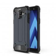 Custodia per Samsung J6 2018 Hybrid Armour TPU+PC Cover robusta e resistente Colore Blu