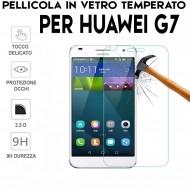 Pellicola per Huawei Ascend G7 Antiurto in Vetro Temperato Proteggi Schermo