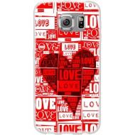 Cover per Huawei G7 Back case in silicone con CUORI ROSSI