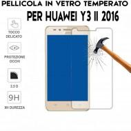 Pellicola per Huawei Y3 II 2016 Antiurto in Vetro Temperato Proteggi Schermo