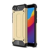 Custodia per Huawei Y6 2018 Hybrid Armour TPU+PC Cover robusta e resistente Colore Colore Oro