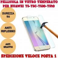 Pellicola per Huawei Y5 Y5C Y530 Y540 in Vetro Temperato Proteggi Schermo smartphone