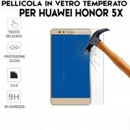Pellicola per Huawei HONOR 5X Antiurto in Vetro Temperato Proteggi Schermo