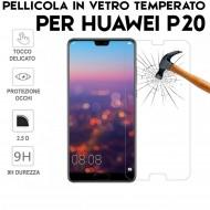 Pellicola per Huawei P20 Antiurto in Vetro Temperato Proteggi Schermo