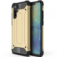 Custodia per Huawei P30 Pro Hybrid Armour TPU+PC Cover robusta e resistente Colore Oro