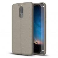 Custodia per Huawei Mate 10 Lite Cover tpu paraurti modello Litchi pattern Grigio