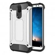Custodia per Huawei Mate 10 Lite Hybrid Armour TPU+PC Cover robusta e resistente Colore Argento
