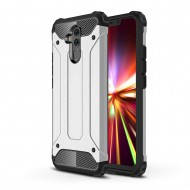 Custodia per Huawei Mate 20 Lite Hybrid Armour TPU+PC Cover robusta e resistente Colore Argento