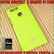 Custodia cover Per Huawei P9 Plus morbida JELLY CASE MERCURY GOOSPERY VERDE FLUO