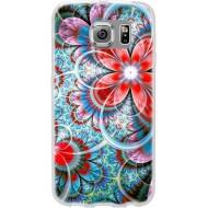 Cover per Lumia 550 in silicone con Fantasia Fiore Rosso