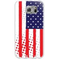 Cover per Lumia 550 in silicone con Bandiera Americana
