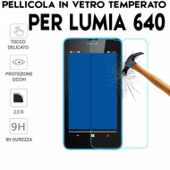 Pellicola per Lumia 640 Antiurto in Vetro Temperato Proteggi Schermo