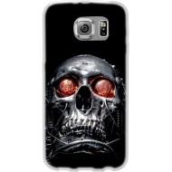Cover per Lumia 640 in silicone con Teschio occhi Rossi