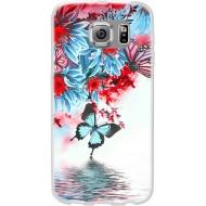 Cover per Lumia 640 in silicone con Fantasia Fiore e farfalle