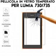 Pellicola per Lumia 730/735 Antiurto in Vetro Temperato Proteggi Schermo
