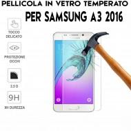 Pellicola per Samsung A3 2016 Antiurto Vetro Temperato Proteggi Schermo