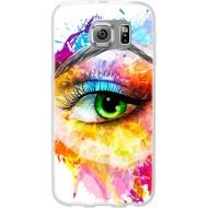 Cover Back case in silicone per samsung  S4 (I9500) con occhio colorato