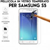 Pellicole Per Samsung S5 e S5 Neo Antiurto Vetro Temperato Proteggi Schermo