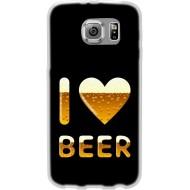 Cover Back case in silicone Per Samsung S5/S5 Neo con I LOVE BEER
