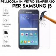 Pellicola per Samsung Galaxy J5 J500 in Vetro Temperato Proteggi Schermo