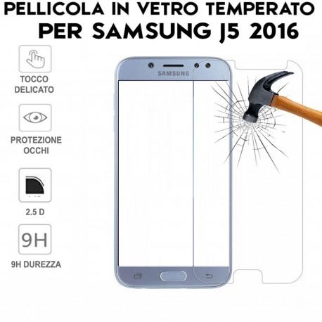Pellicola Antiurto Vetro Temperato Proteggi Schermo per Samsung Galaxy J5 2016