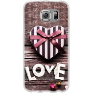 Cover Back case in silicone per samsung J7 (J700) con love con cuore