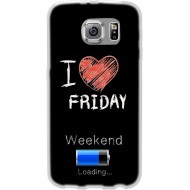 Cover Back case in silicone per samsung J7 (J700) con scritta I LOVE FRIDAY