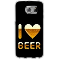 Cover Back case in silicone per samsung J7 (J700) con I LOVE BEER