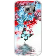 Cover per LG G4 in silicone con Farfalle e fiori