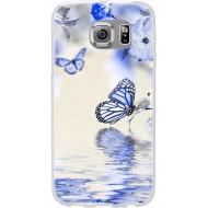 Cover per LG K8 in silicone con Farfalle e fiori