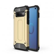 Custodia per Samsung S10 Hybrid Armour TPU+PC Cover robusta e resistente Colore Oro