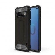 Custodia per Samsung S10 Hybrid Armour TPU+PC Cover robusta e resistente Colore Nero
