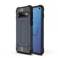 Custodia per Samsung S10 Hybrid Armour TPU+PC Cover robusta e resistente Colore Blu