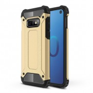 Custodia per Samsung S10e Hybrid Armour TPU+PC Cover robusta e resistente Colore Oro