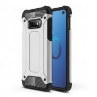 Custodia per Samsung S10e Hybrid Armour TPU+PC Cover robusta e resistente Colore Argento