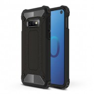 Custodia per Samsung S10e Hybrid Armour TPU+PC Cover robusta e resistente Colore Nero
