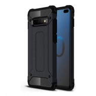 Custodia per Samsung S10 Plus Hybrid Armour TPU+PC Cover robusta e resistente Colore Nero
