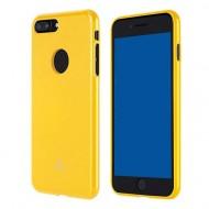 Cover per Iphone 7-8 Plus morbida JELLY CASE MERCURY GOOSPERY TPU DI QUALITA' GIALLO