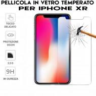 Pellicola per iphone XR  Antiurto in Vetro Temperato Proteggi Schermo