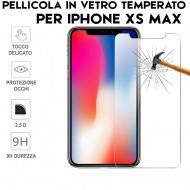 Pellicola per iphone XS MAX  Antiurto in Vetro Temperato Proteggi Schermo