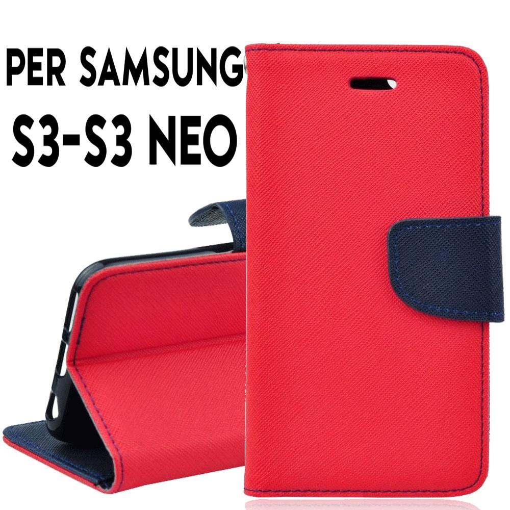 cover samsung s3 neo rosso