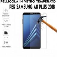 Pellicola per Samsung A8 PLUS 2018 Antiurto in Vetro Temperato Proteggi Schermo