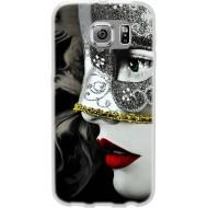 Cover Back case in silicone per samsung  S7 (G930) con donna in maschera